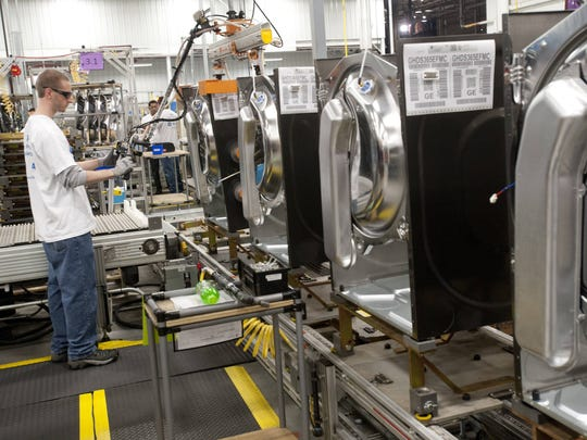 In this file photo, dryers are made at the GE Appliance Park in Louisville.