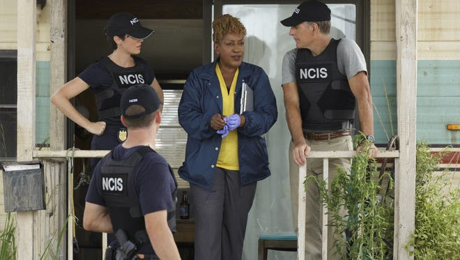 """NCIS: New Orleans"" stars (from left)  Zoe McLellan, Lucas Black, CCH Pounder and Scott Bakula."