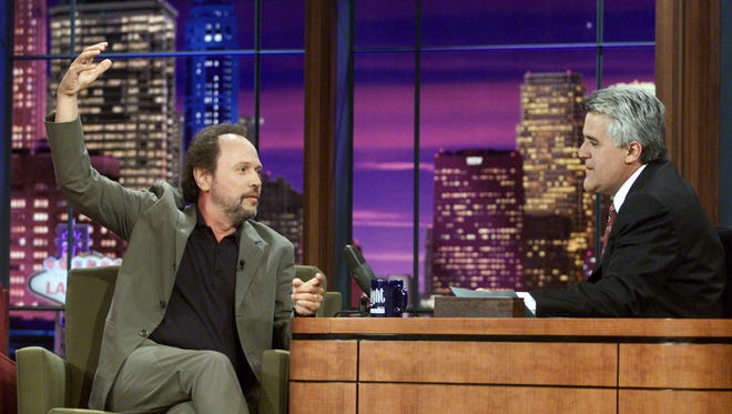 "Billy Crystal on ""The Tonight Show with Jay Leno"" at the NBC Studios in Burbank,  Ca. July 16, 2001."