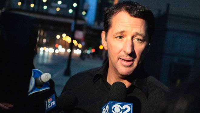 In this Oct. 28, 2013 file photo, television infomercial pitchman Kevin Trudeau speaks to the media after leaving the Metropolitan Correctional Center in downtown Chicago.