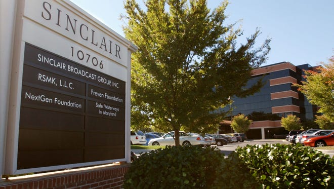 Sinclair Broadcast Group Inc.'s headquarters stands in Hunt Valley, Md.