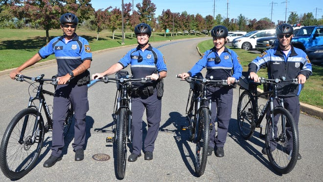 Members of the Edison Police Department's Bicycle Patrol.