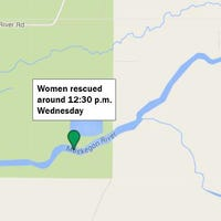 Women stranded overnight on Muskegon River while tubing