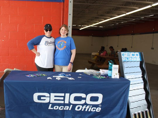 Misty Moody and Amy Reis represented GEICO as sponsors of the Touch-a-Truck event