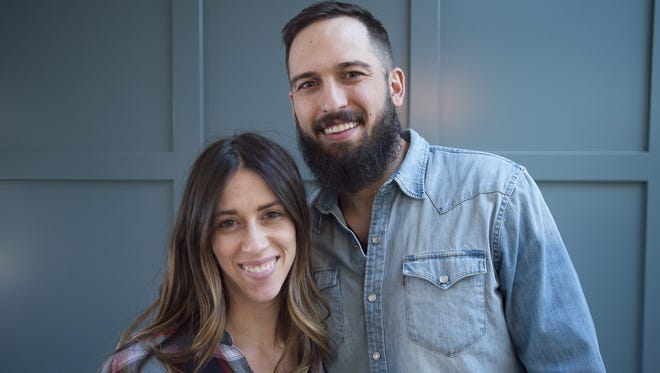 Annie and Jordan Obermann of Forge + Bow pose for a portrait in a home they are renovating on Thursday, January 11, 2018.