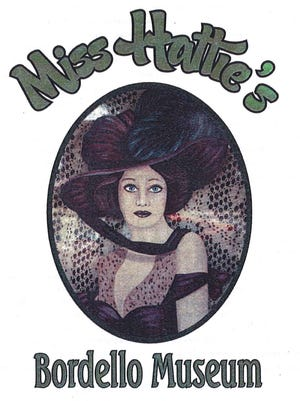 A flyer for Miss Hattie's Bordello Museum in San Angelo.