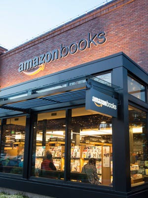 Amazon Books store in Seattle, the online retailer's first brick-and-mortar  store, which opened on November 3, 2015.