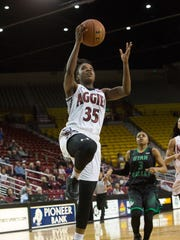 New Mexico State guard Moriah Mack was named Western Athletic Conference Player of the Year on Monday. Mack was also named to the WAC All-Defensive team.