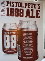 "The new ""Pistol Pete's 1888 Ale"" a beer brewed by Bosque Brewing Co. in conjunction with the NMSU. The beer is on tap at Bosque Brewings taproom and will be available in cans in early 2018. Thursday Aug. 17, 2017."