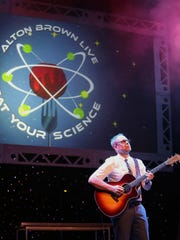 "Alton Brown says his stage show ""Eat Your Science"""