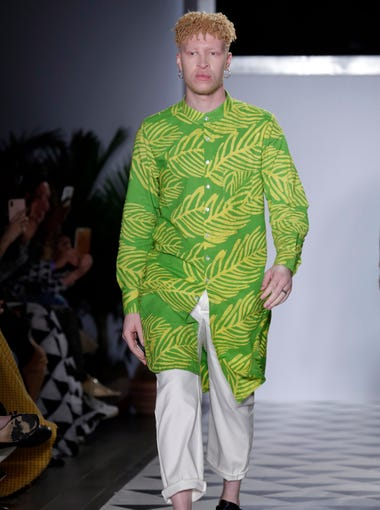 Shaun Ross models the Studio 189 spring 2019 collection.