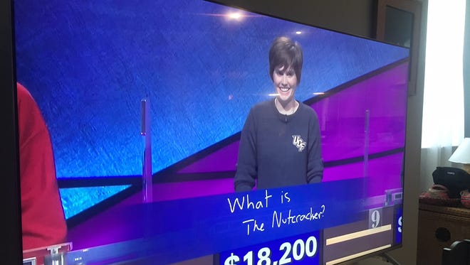 Hannah Sage competed in the Jeopardy! College Championship semifinal Tuesday.