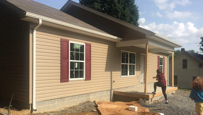Siding and windows were added to the Jacksons' Habitat for Humanity home in Westmoreland.
