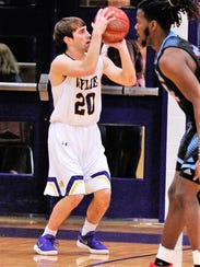 Wylie's Sam King lines up a 3-point shot during Tuesday's