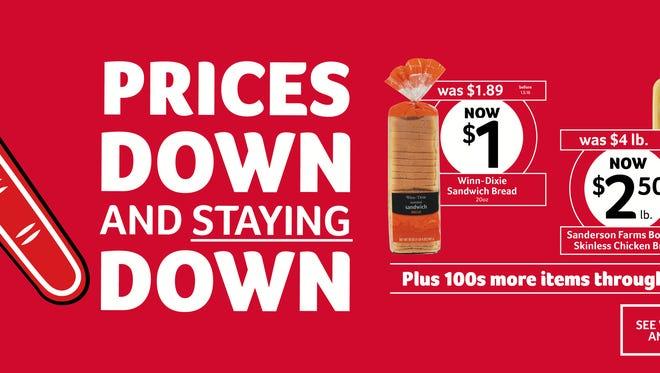 Winn Dixie has created a new price-cutting program that has reduced costs by up to 50 percent for 400 items.