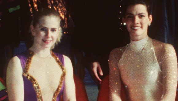 File photo of figure skaters Tonya Harding (left) and