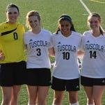 The Tuscola soccer team's seniors.