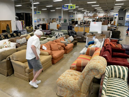 Customers shop at the Habitat for Humanity Restore