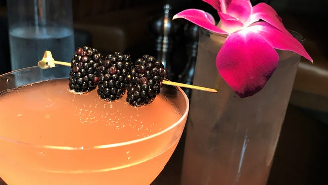 Conner's Kitchen + Bar's gin-fresh Blackberry Bees Knees with lemonade, blackberry, local honey and a splash of sparkling wine and a prickly pear margarita are among the restaurant's craft cocktails. Conner's opened April 12, 2018, at Downtown Indianapolis Marriott.