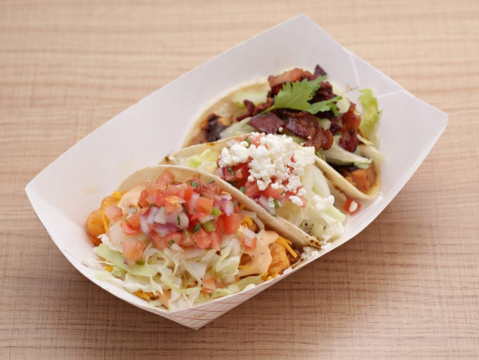 The kitchen at Mucho Macho Taco nails this three-bite