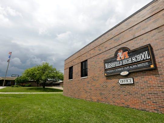 Marshfield High School, at 1401 E. Becker Road, in