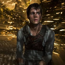 """Dylan O'Brien in a scene from the film """"The Maze Runner."""""""