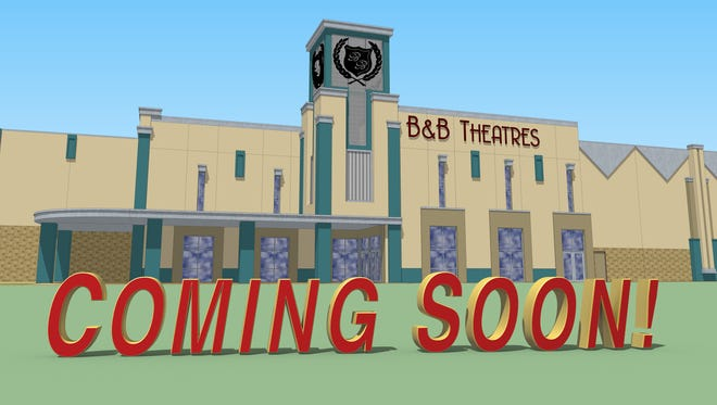 B & B Theatres in McComb is scheduled to open in the fall of 2015.