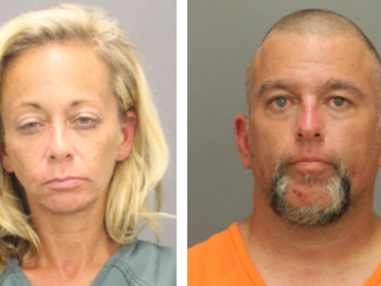 Joanna Renze and Michael Santore, both of Williamstown, are accused of taking part in a commercial burglary ring.