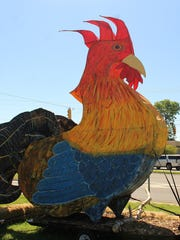 "This 20-foot-tall sentinel welcomes visitors to a recent ""Rooster Day"" in Demopolis. Alvin Benn/Special to the Advertiser"