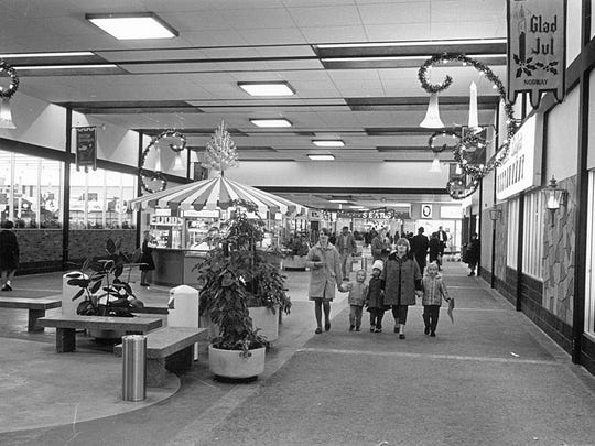 In 1966, shoppers checked Crossroads Center stores for holiday items for the first time.