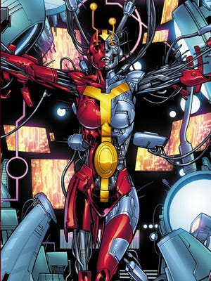 "Red Tornado is one of the many characters who factor into Daniel H. Wilson's ""Earth 2: Futures End"" one-shot and upcoming ""Worlds End"" weekly series."
