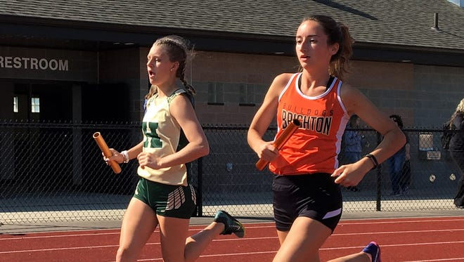 Brighton's Lauren Parrell (right) was a state qualifier in the 3,200-meter run last season.