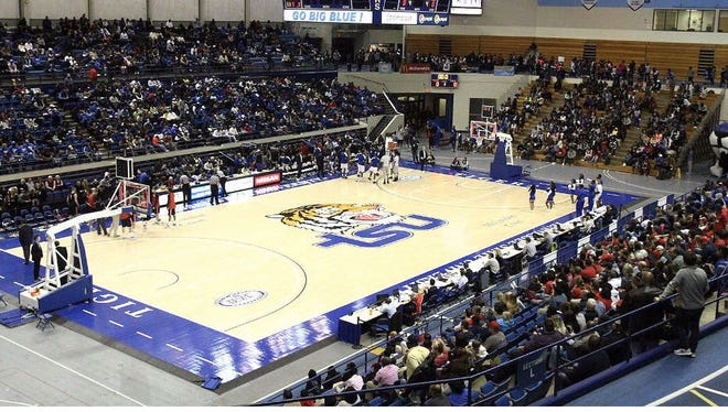 The crowd for the Belmont-Tennessee State game Saturday was the largest of the season at Gentry Center.
