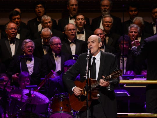 James Taylor performs at the Carnegie Hall 125th Anniversary