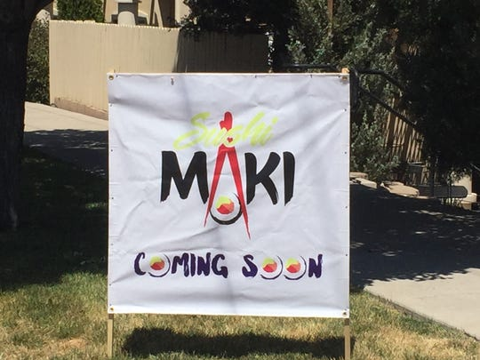 Sushi Maki looks to be opening in the Plumgate center on West Plumb Lane in Reno.