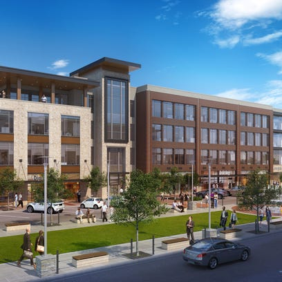 Latest rendering of One Fountains Plaza, the first