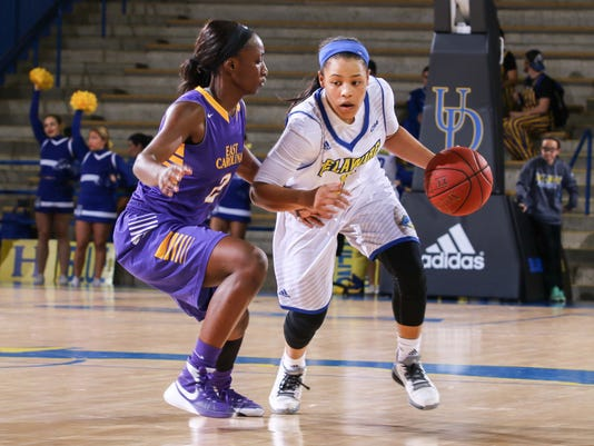 NCAA WOMENS BASKETBALL 2015 - NOV 22 - ECU leads Delaware 40-24 at Halftime