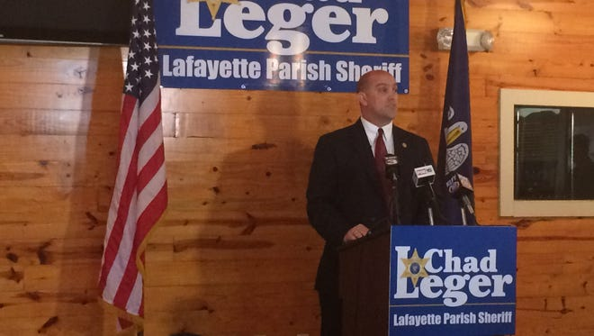 Chad Leger, police chief of Scott, announced Wednesday morning that he is running for Lafayette Parish sheriff.