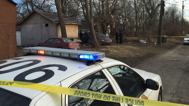 Police found a body in a vehicle Sunday, Feb. 15, 2015, on the Indianapolis Eastside.