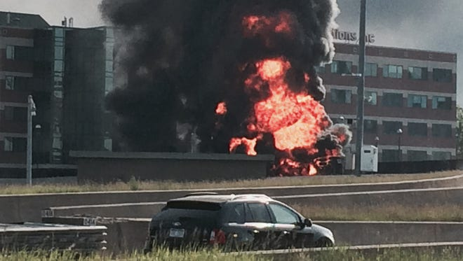 MDOT spokeswoman Diane Cross said the massive tanker explosion has shut down both sides of I-75 at I-375.