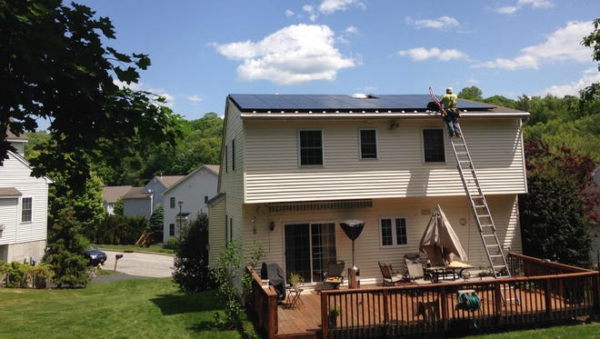 A solar installation in the Cortlandt-Croton area by Sunrise Solar Solutions.