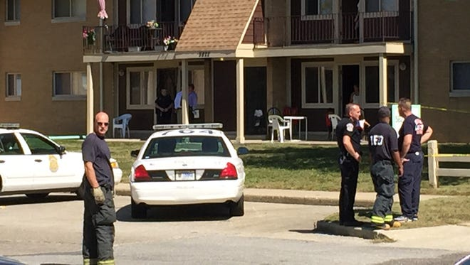 Indianapolis police are on the scene where a dead body was found in an Eastside apartment.