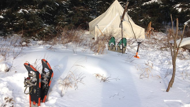 Chuck Rose camped in the Boundary Waters Canoe Area Wilderness in February. Hot-tenting is a focus of the Winter Camping Symposium.