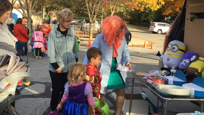 Families participated Oct. 25, 2015, in a trunk or treat event at Meridian Street United Methodist Church.