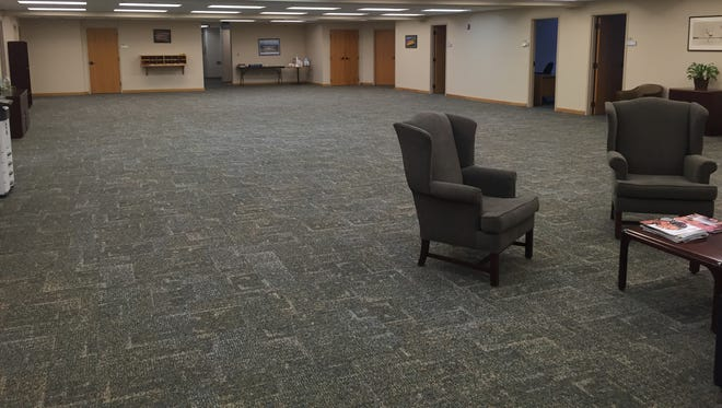 The third floor office of the City Council at City Hall is largely empty. The Downtown Improvement Board had hoped to move in, but Council President Charles Bare says the space will be needed for future council staff.