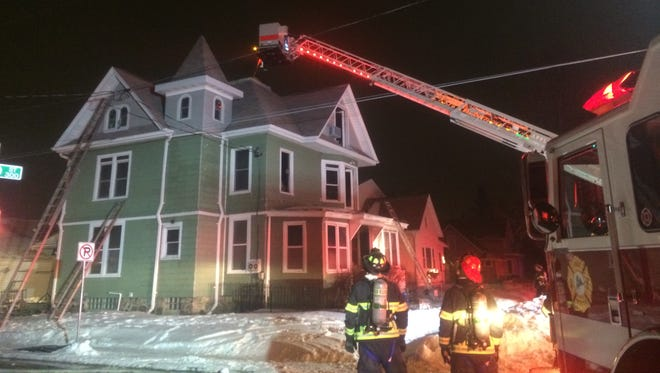 Firefighters extinguished a fire late Monday on Appleton's 300 block of W. Winnebago St.