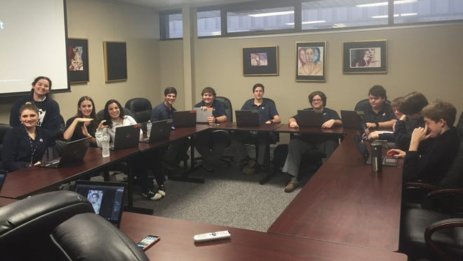 Students from St. Thomas More Catholic High School participate in the 2016 Louisiana High School Technology Challenge.