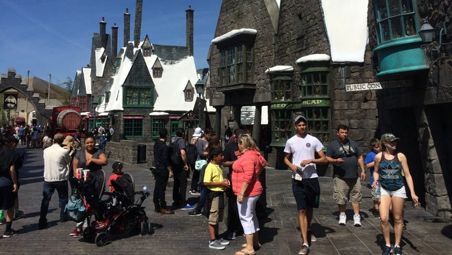 Though the Wizarding World of Harry Potter at Universal Studios Hollywood does not officially debut until April 7, some visitors were lucky enough to enter during a soft opening.