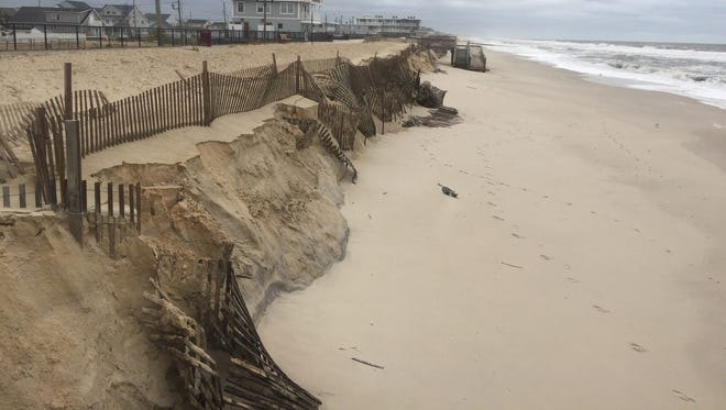 The beach in the Ortley Beach section of Toms River.
