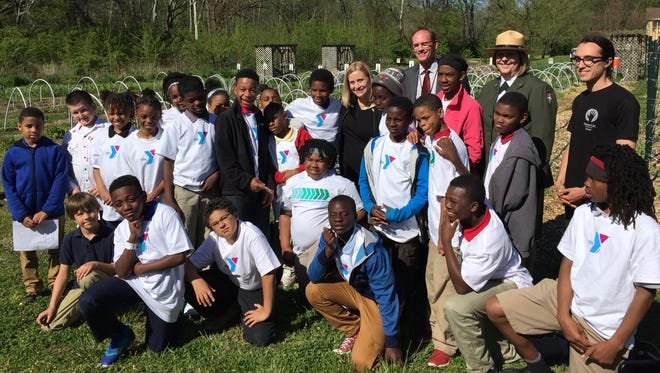 Mayor Megan Barry, the National Park Service and the YMCA are working together to encourage youth to play, learn, serve and work outside.